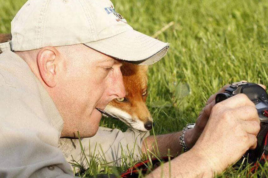 fox checks out camera