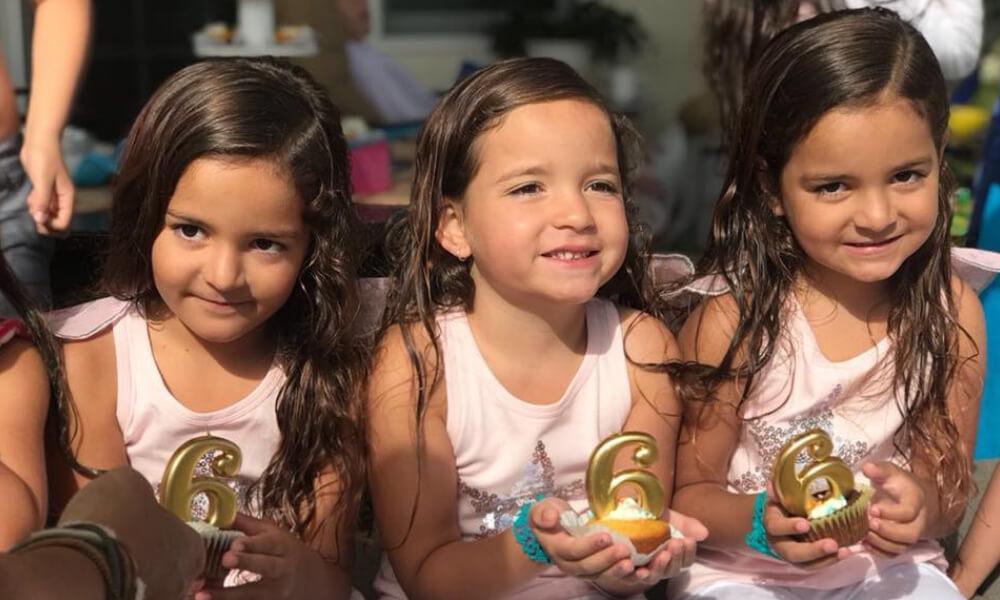 triplets turn 6