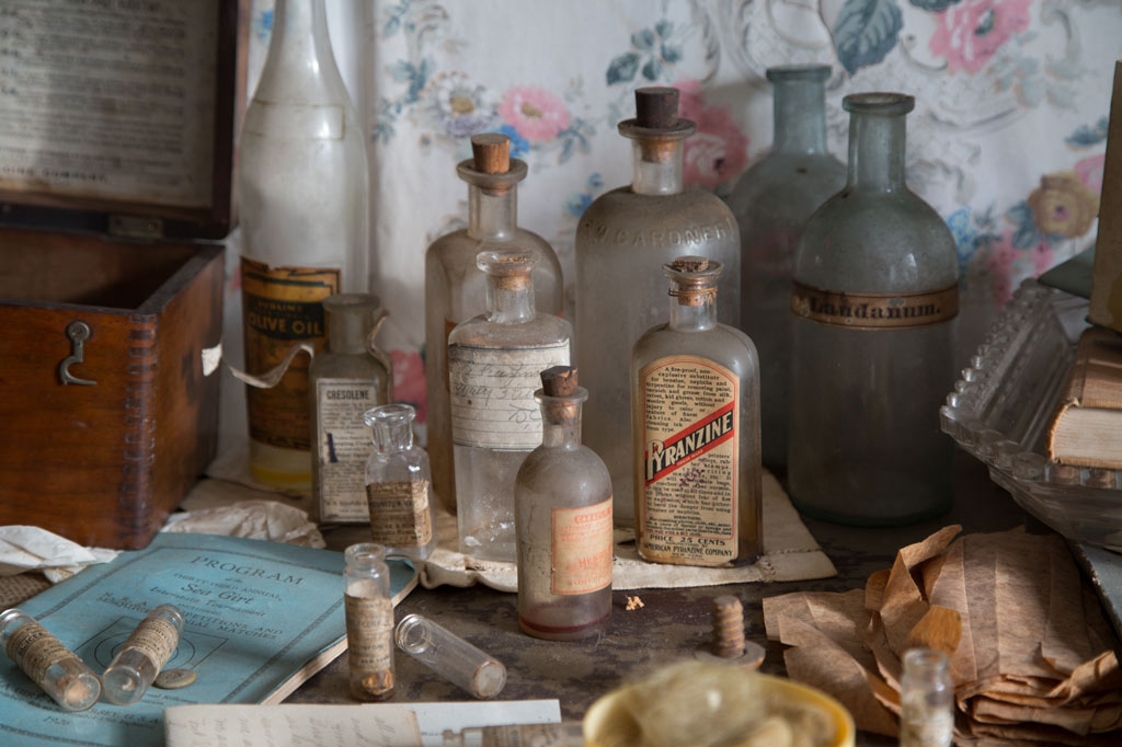 several old bottles