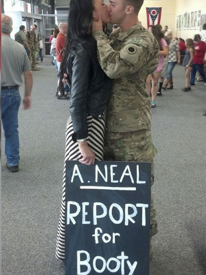 funny airport signs military couple
