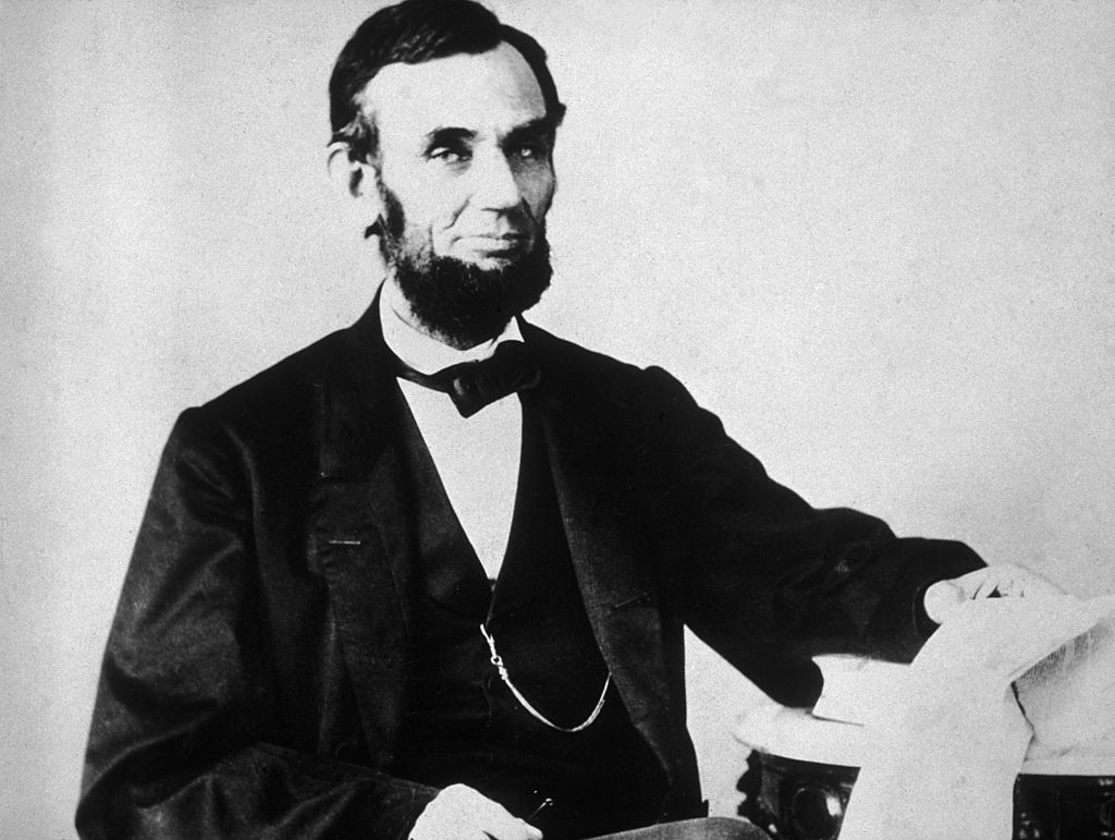 The 16th American president, Abraham Lincoln