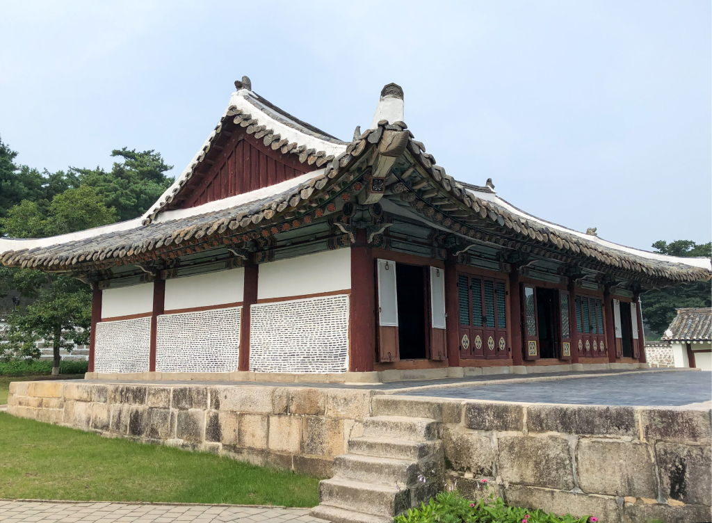 An outdoor view shows the Confucian Museum in North Korea