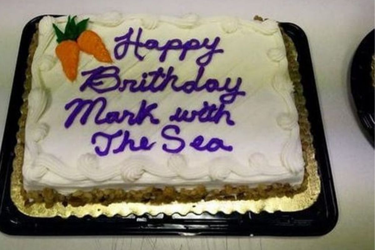 cake message fails bad spelling