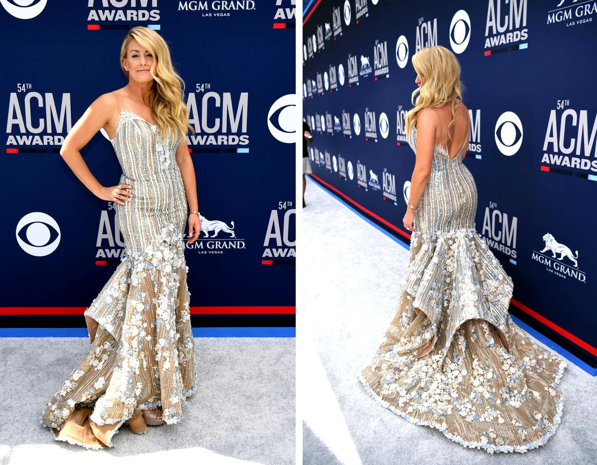 Stephanie Quayle Shows Off The Front And Back Of Her Dress