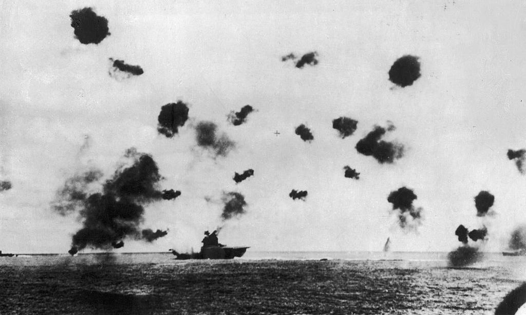 USS Yorktown in battle