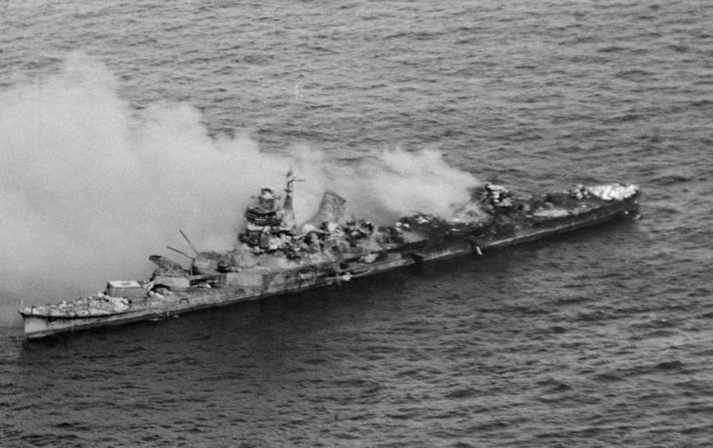 Destroyed Japanese carrier