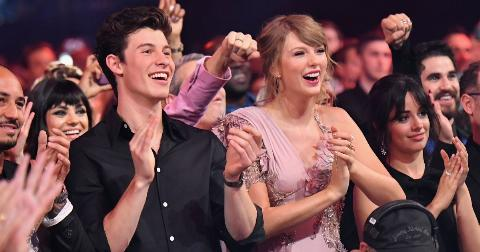Shawn Mendes and Taylor Swift during the 2018 Billboard Music Awards