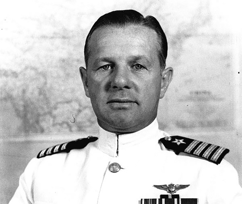 General Wade McClusky poses for a portrait in the 1940s.