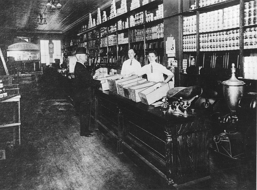 Store clerks in ties