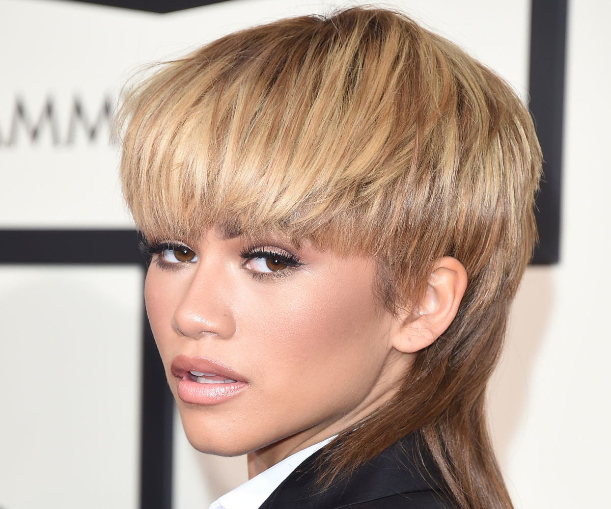 Actress-singer Zendaya has a mullet.