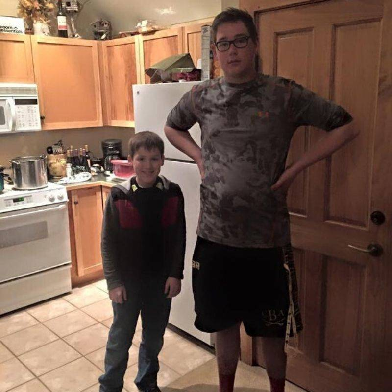 two 13 year olds super different in height