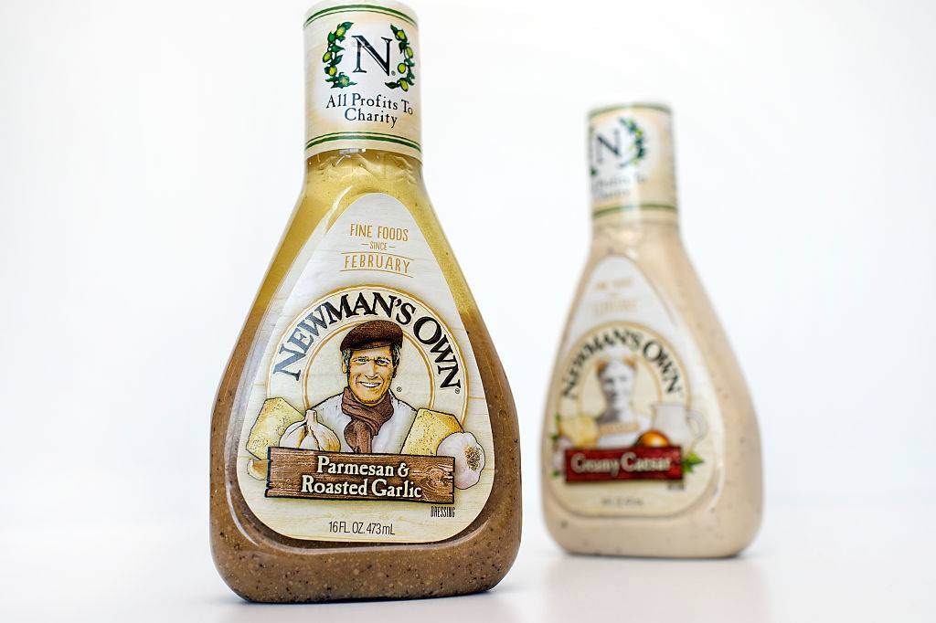 a bottle of parmesan and roasted garlic salad dressing