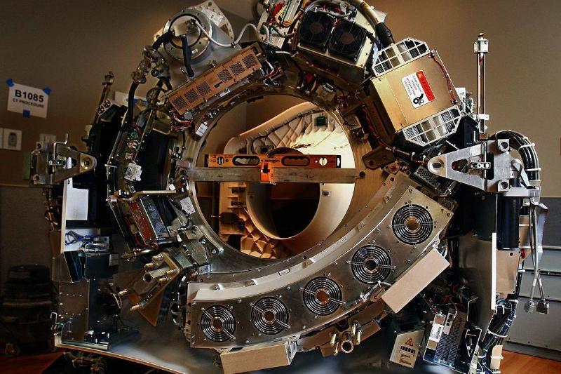 inside of CT scanner