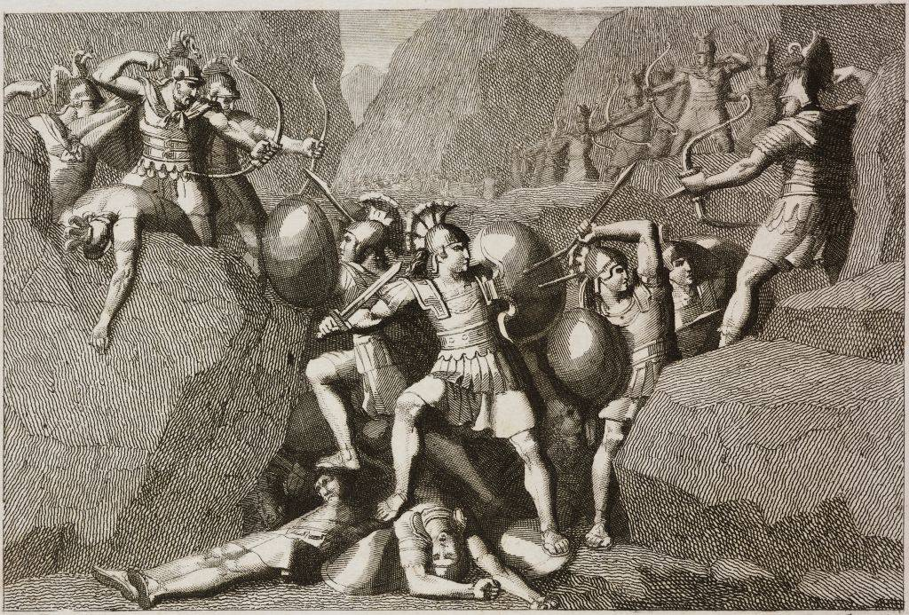 Picture of the battle