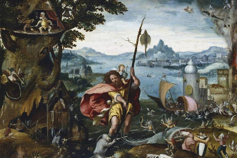 St. Christopher crossing the river