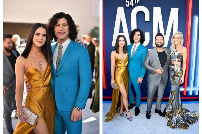 Abby Law appears at the ACM Awards with Dan + Shay and Hannah Billingsley.