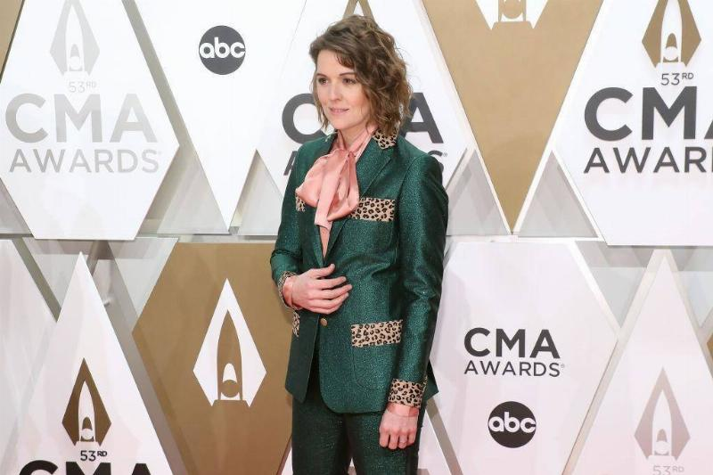 Brandi Carlile Rocked a Green Suit With Leopard