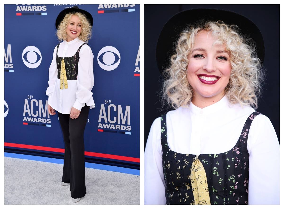 Cam appears at the ACM 2019 Awards wearing a shirt, pants, vest, and hat.