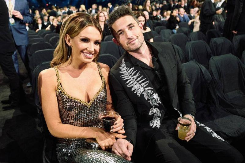 Carly Pearce and Michael Ray in Sparkling Silver
