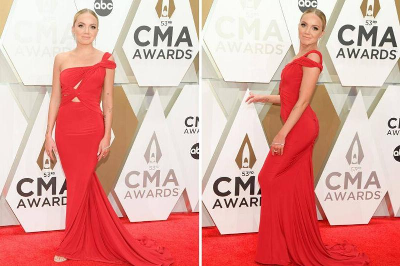 Danielle Bradbery Rocked A Red Off-The-Shoulder Gown