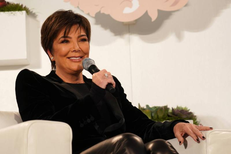 kris jenner during interview at conference in west hollywood