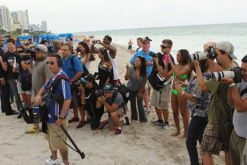 crew filming KUWTK in miami florida 2012