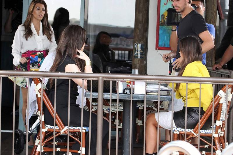 kourtney khloe kim kardashian and scott disick filming in miami