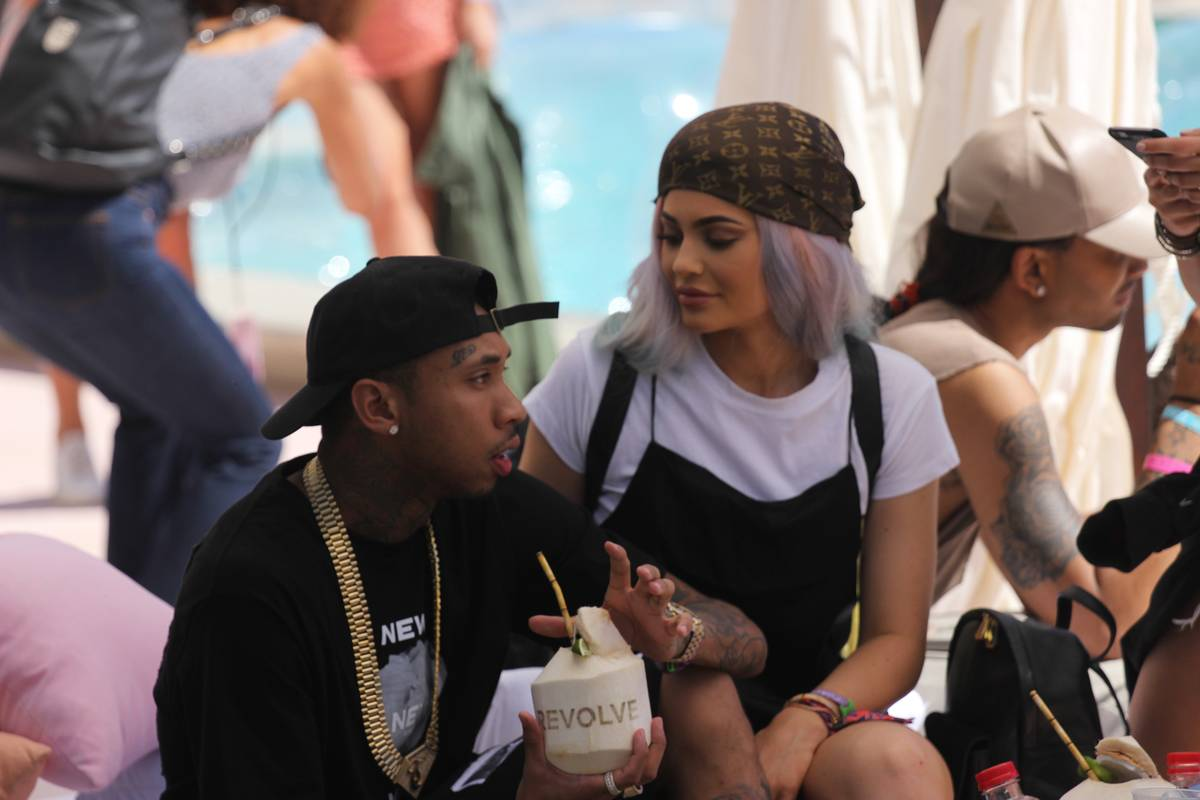 kylie and tyga at revolve desert house april 2016