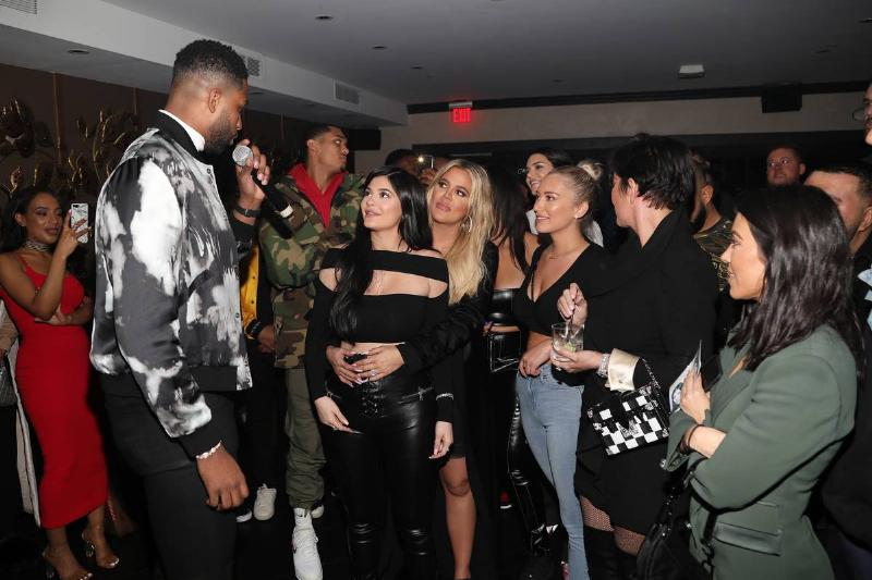 khloe kylie kris and kourtney celebrating tristan thompson's birthday 2018