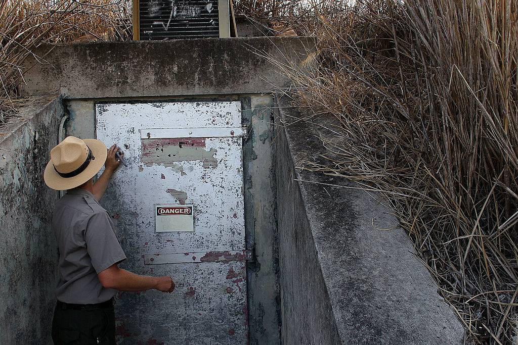 Picture of a man at a bunker