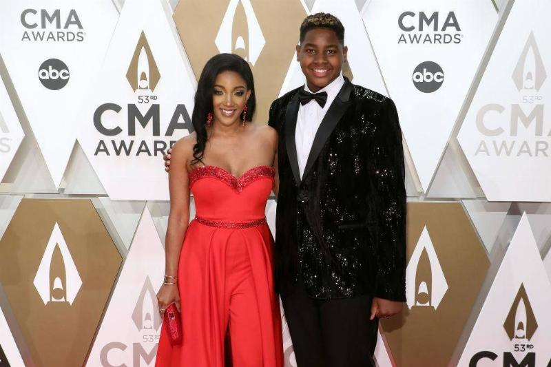 Mickey Guyton Rocks A Red Jumpsuit