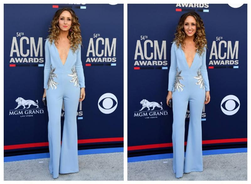 Parker Welling wears a pantsuit to the ACM 2019 Awards.