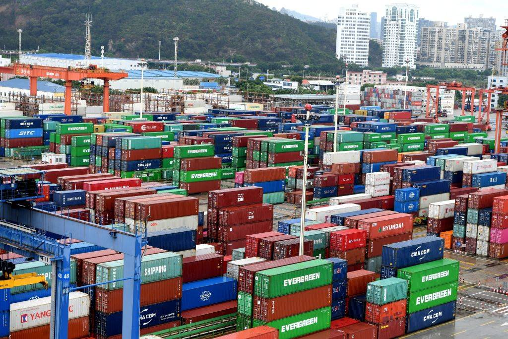 Collection of shipping containers