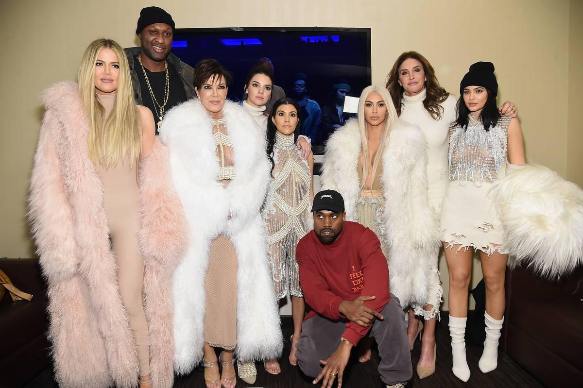 kardashian-jenner girls plus lamar odom kanye caitlyn jenner and kris jenner