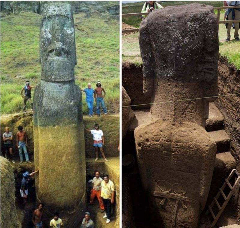 The Easter Island Statues Have Full Bodies