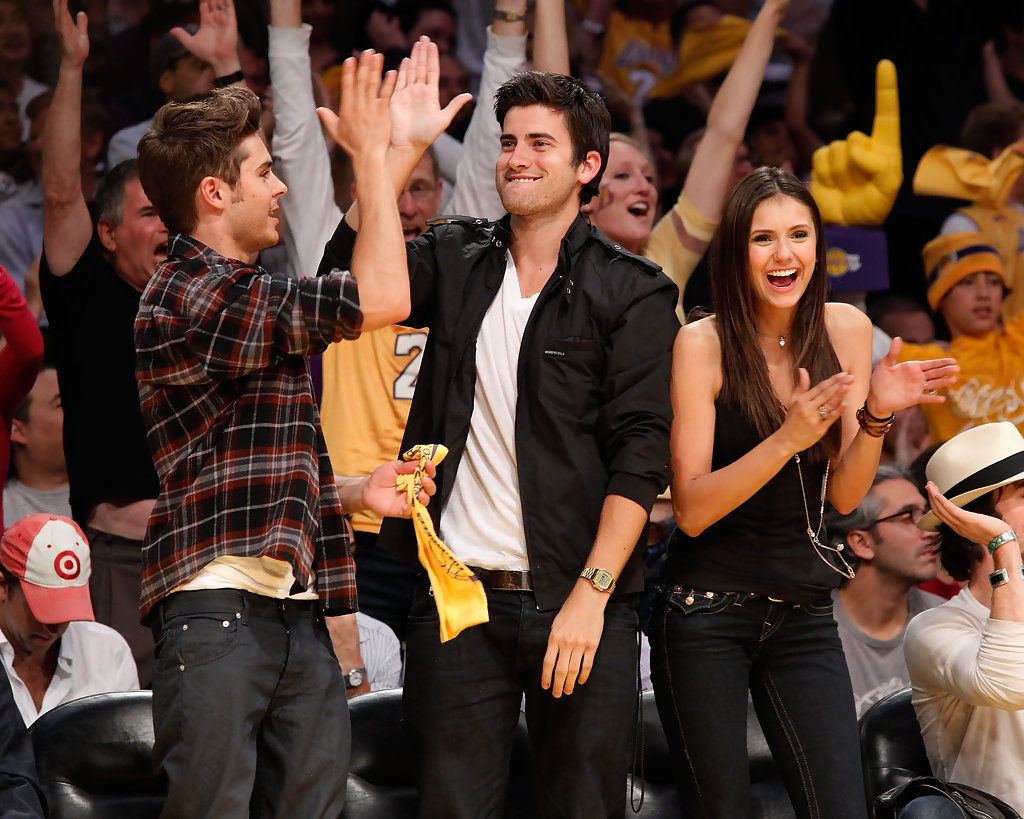 Ryan Rottman zac effron lakers game
